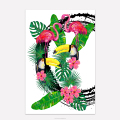 Tropical Scenery Wall Art Tocan Parrot Bird Pictures Abstract Animal Canvas Prints 1 Piece Bedroom Decoration