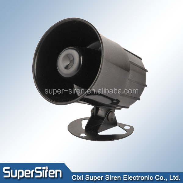12V 6-tone, 20W 118db Universal Electronic Alarm Siren for cars, vans, trucks. ,LOUD electronic emergency horn speaker