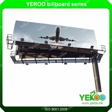 Outside Shopping Center City Road Painting Q235 Steel Full Color Horizontal Advertising Media Display Sign Billboard