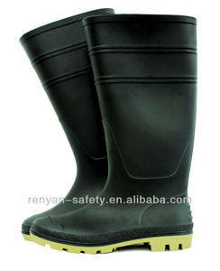 light duty PVC safety boots, rain boots,dull finish