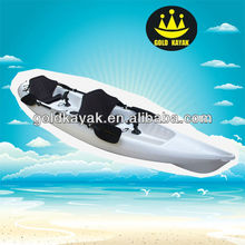white double sit kayak boat on top white color