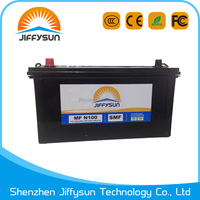 N100MF Korean car battery with high quality