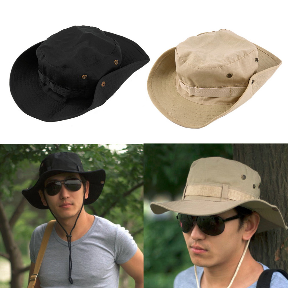 Bucket Hat Boonie Hunting Fishing Outdoor Wide Cap Brim Military Unisex Perfect