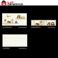 1st choice high quality grade AAA 300X600 glazed ceramic kitchen border tiles fruit