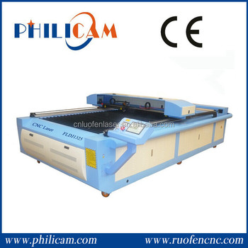 Cheap and high quality 80w/100w/130w/150w clothing laser cutting machine