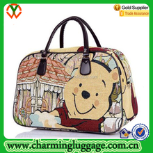 Ladies Fancy Cartoon Printed Vintage Canvas Travel bag