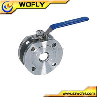 wafer type 1000 to 2000 wog / psi flanged stainless ball valve