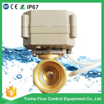 "DN15 1/2"" motorized motor operated ball valves mini electric valve"