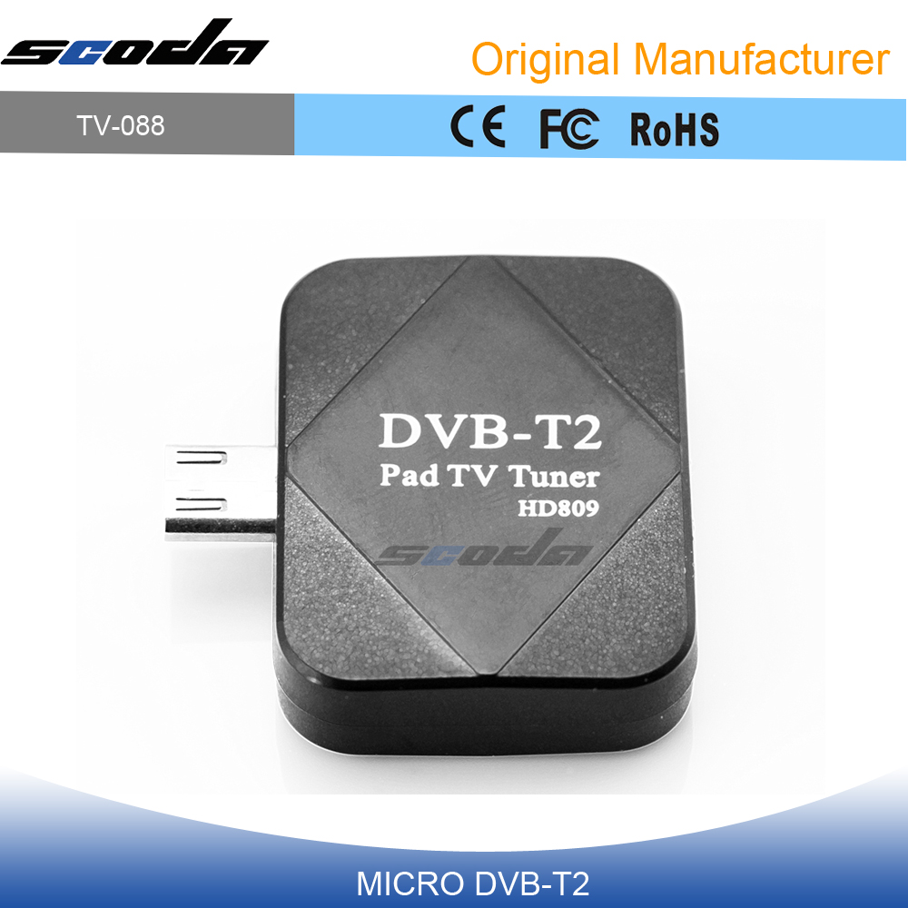 DVB-T2 Android TV tuner PT360 DVBT2 Pad TV Receive Micro USB dvb-t Android smartphone