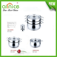 excellent houseware products one/two/ three layer stainless steel pot still/chinese kitchen utensils