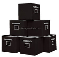 Non-woven fabric Drawers/boxes With Handle and Label Holder