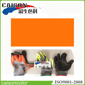 Orange printing and dyeing for insulation gloves