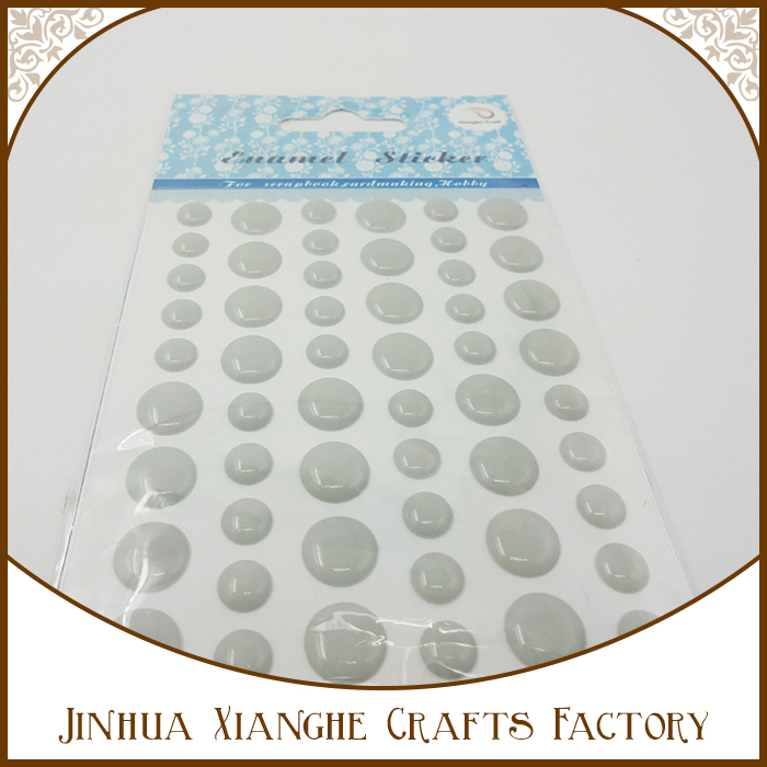 Wholesale Custom Popular Promotion Gift Scrapbooking Adhesive Enamel Dots