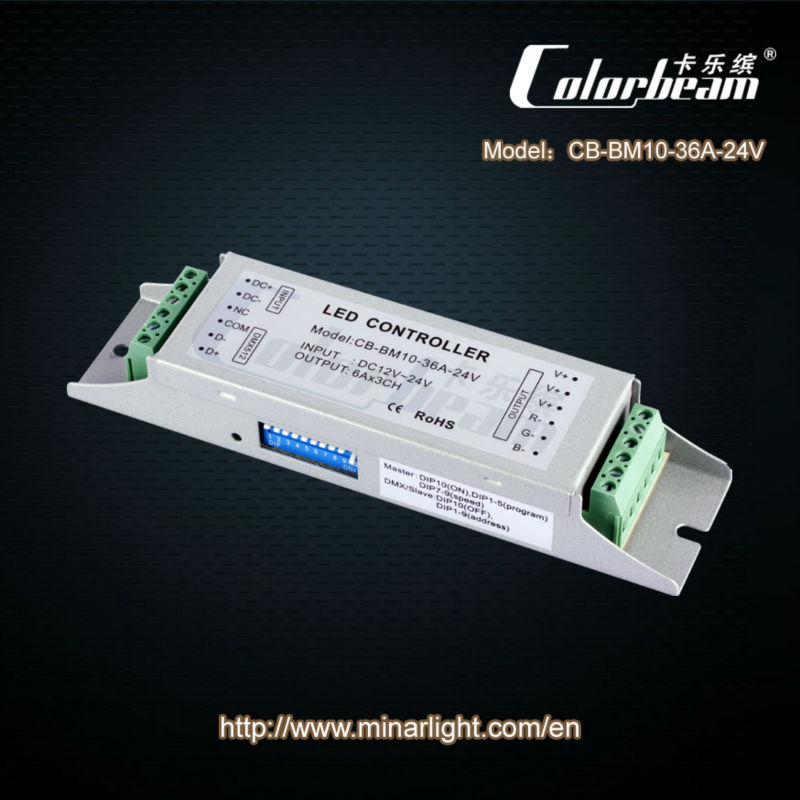 (DMX512 constant voltage) Dimmer of led light controller,LED light controller,LED light director