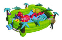 Inflatable dinosaur play ground moonwalk bouncer for kids commercial