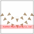 Handmade Bunting Triangle Flags Paper Garland for Weddings Decoration