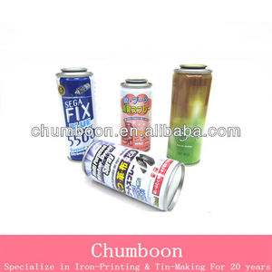 Empty Aerosol tin Can For Shoe Care With 4 Color Printing