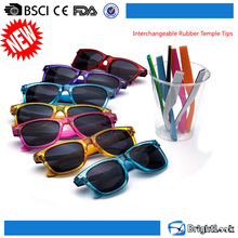 China sunglasses factory bulk buy interchangeable rubber temple tips fashionable sun glasses