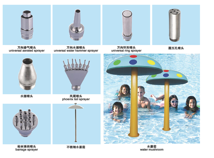 Spray set spa pool accessories spray head