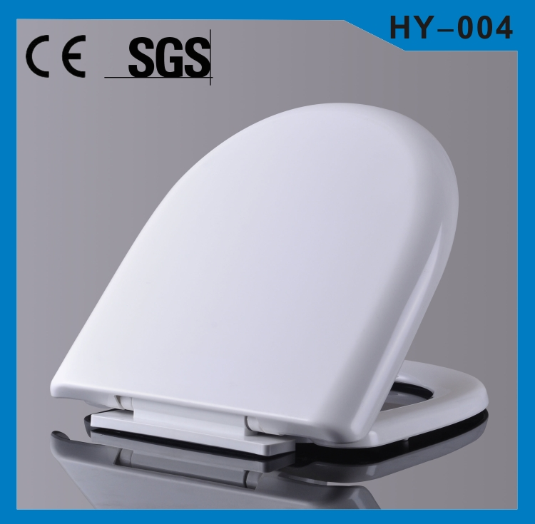 PP material soft close toilet accessories set
