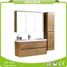 Modern european wall cabinet vanity MDF bathroom furniture set