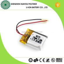 Rechargeable 801721 Li-polymer 3.7v 170mAh Battery with Wire/PCM