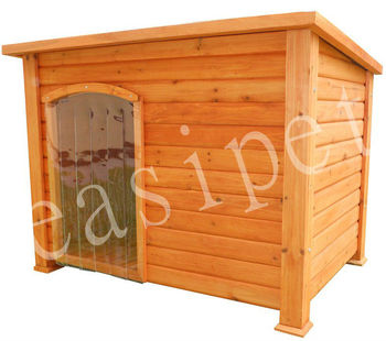 Wooden Outdoor Dog Kennel With Opening Roof