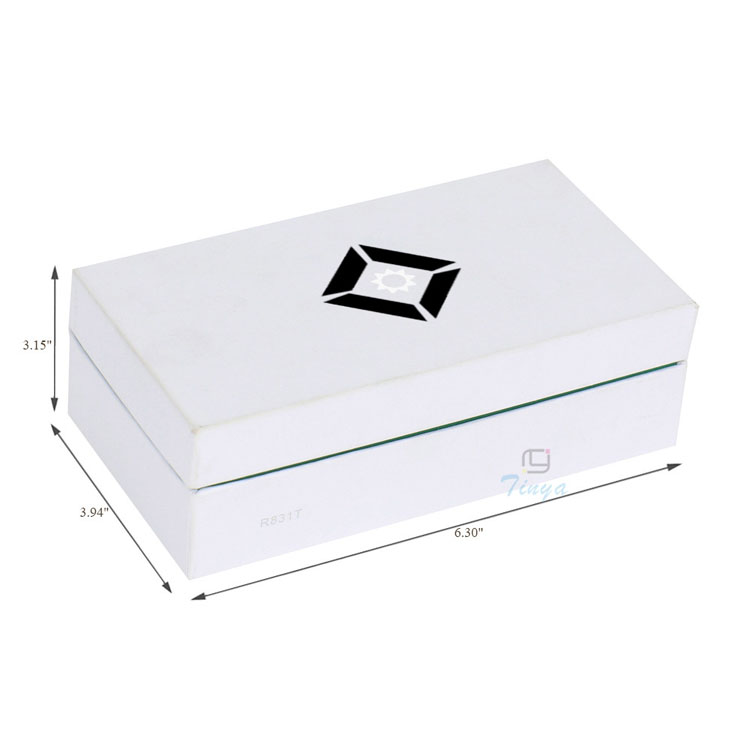 sharp edge white paper strong quality gift box