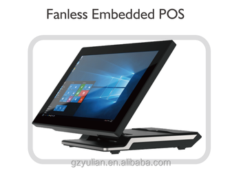 High end foldable Fanless Embedded POS System for desktop and wall mounted