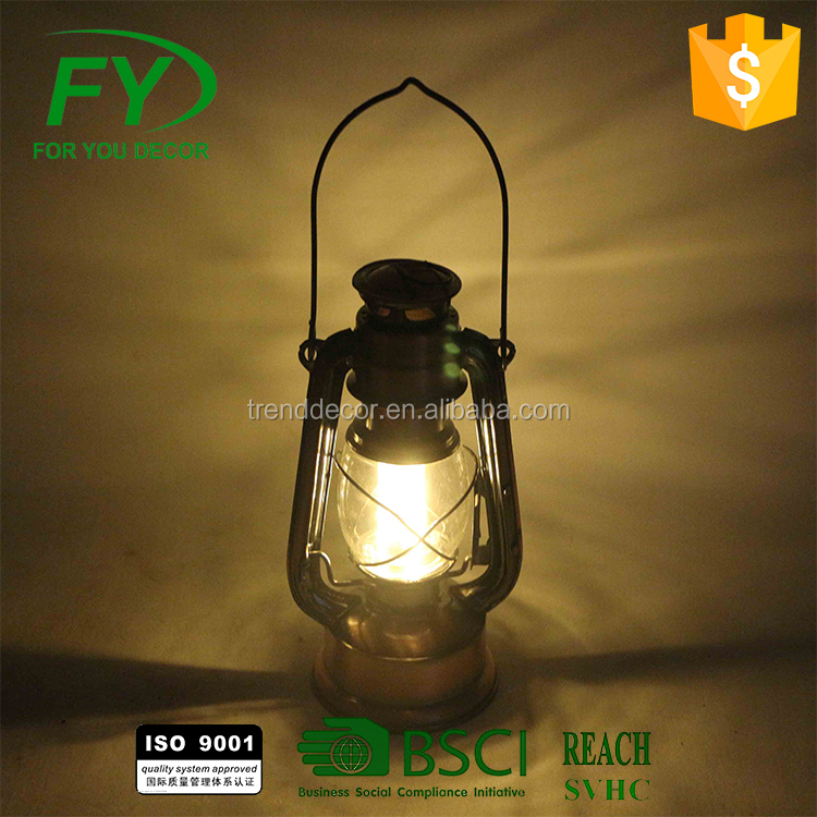 ML-2365 Vintage Oil Hurricane Lantern for Outdoor Camping Decoration