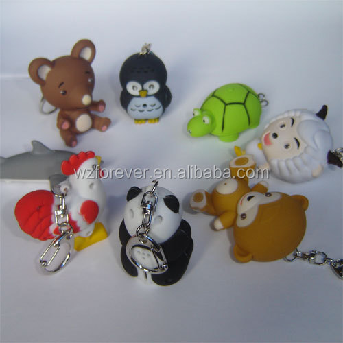 Duck Shaped Led Flashlight Torch Keyring With Sound/Voice