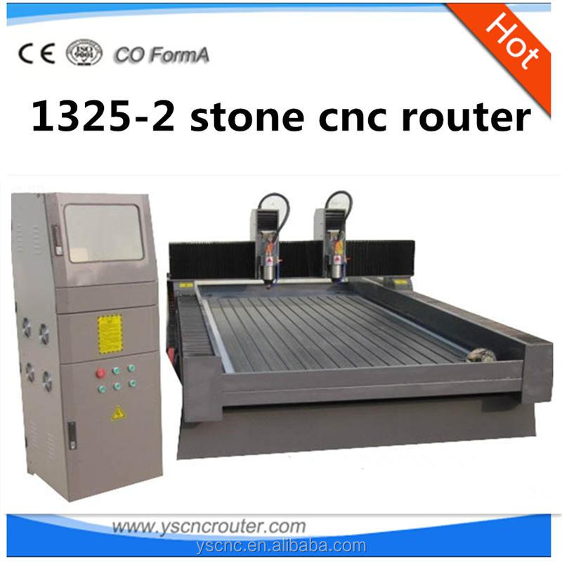 engraving water sculpture stone cnc router 1325 tumbling machine with 2 spindle