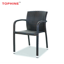 Commercial Contract TOPHINE Outdoor Furniture Modern Wicker Rattan Woven Chairs