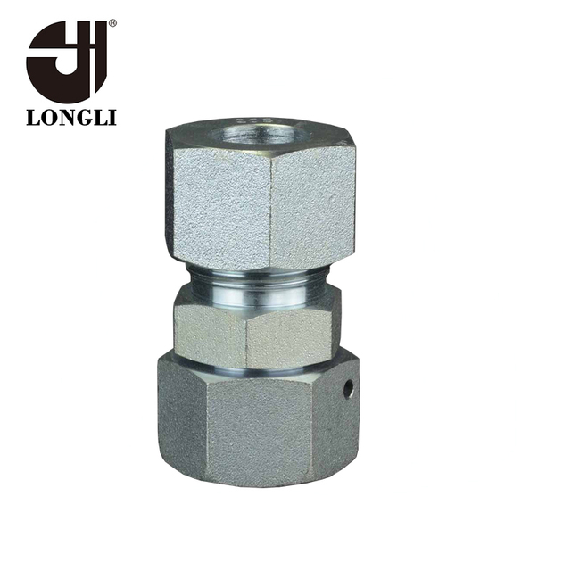 2D Eaton Card Fittings Carbon Steel Zinc Plated 24 Degree Taper Fittings