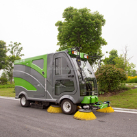 Electric street sweeper high capacity battery powered street sweeper