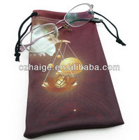 wholesale drawstring microfiber sunglasses pouch/glasses bag
