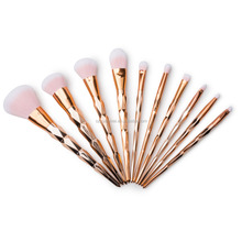 personalized new design plastic handle makeup brush sets