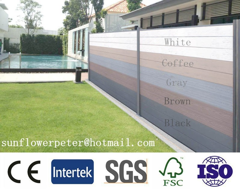 Low cost wall fence from china,wholesale wood fence,clear plastic fence with wpc