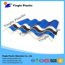 Aging and uv resistance plastic crystal reflective wave pvc roof sheet