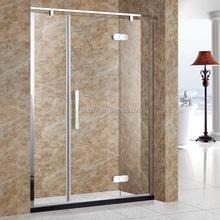 Hinge Simple Shower Door With Swing Glass Frameless Africa Market Prefab Bathroom Pod Elegant Shower Partition