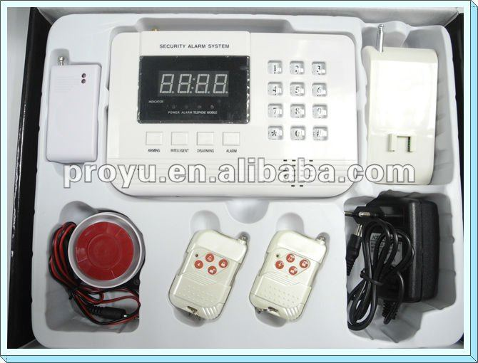 Dual network GSM + PSTN home Security GSM Alarm System with 99 wirless zones PY-GSM8