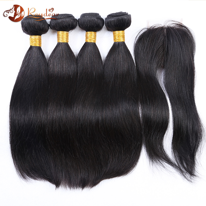 Wholesale 3 bundle High Quality brazilian hair weave Straight Wave human hair weave