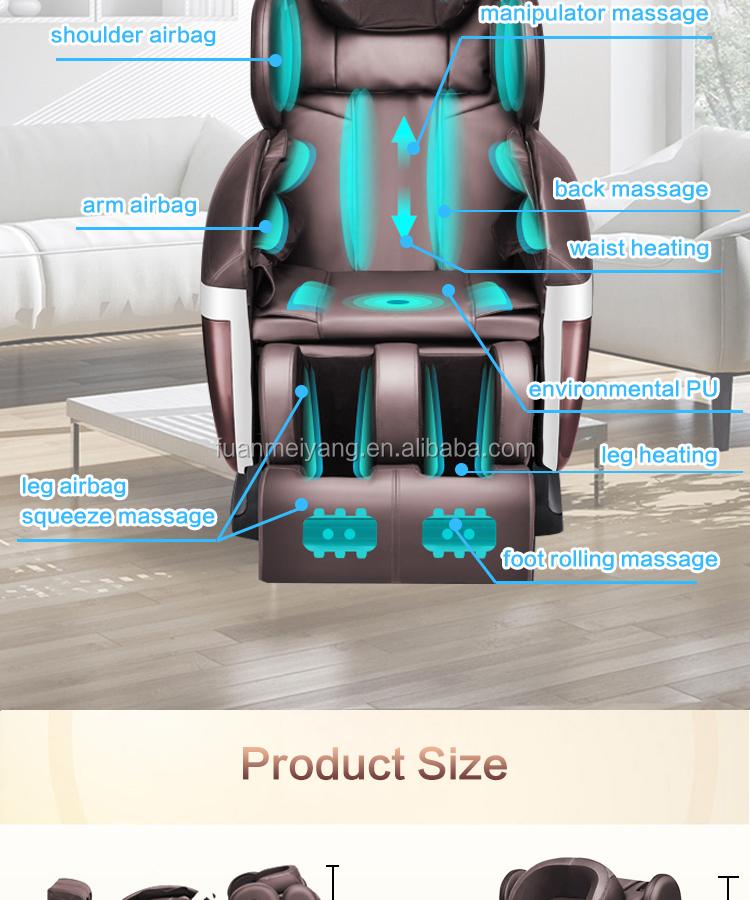 Cheap Reclining Massage Chair 3D with Remote Control