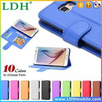 50pcs/lot Via DHL! Luxury Retro PU Leather Flip Case For Samsung Galaxy S6 S VI G9200 Fully Protect Cell Phones Sleeve Cover