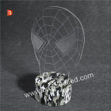 Spider Man Indoor Led Lighting 3D Illusion Night Lights with USB Charger