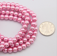 jewelry pearl glass beads,wholesale colorful imitation glass pearl for jewelry