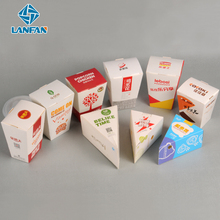 Supply food grade disposable paper foldable square bottom shape snake box chicken popcorn boxes