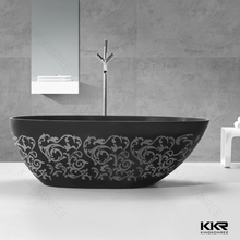 kkr composite stone freestanding bathtub with pattern