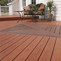 Outdoor durable wood plastic composite decking artificial wood for decks