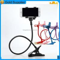 Eco-friendly adjustable silicon tube holder,lazy arm phone holder for retail